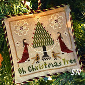 O Christmas Tree, #2 of 2015 The Sampler Tree Ornament Series from Little House Needleworks -- click to see more