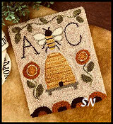 Bee Garden from Little House Needleworks -- click to see more