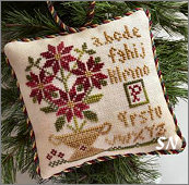 Potted Poinsettias Sampler Tree Ornament #8 from Little House Needleworks -- click to see more