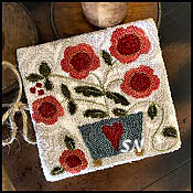 PUNCH NEEDLE Potted Posies from Little House Needleworks -- click to see more