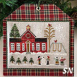 Hometown Holiday #11 Schoolhouse from Little House Needleworks -- click to see lots more