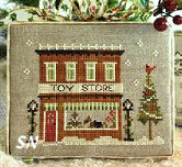 Hometown Holiday #5 Toy Store from Little House Needleworks - click to see more