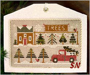 Hometown Holiday #10 Tree Lot from Little House Needleworks -- click to see lots more