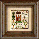 Acorns & Pines by Little House Needleworks -- click to see a larger view