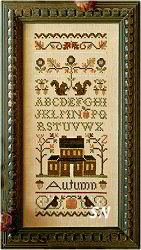 #102 Autumn Band Sampler from Little House Needleworks - click to see more