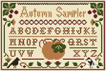 Autumn Sampler by Little House Needleworks and Crescent Colours -- click to see more