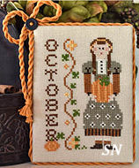 October's Calendar Girl from Little House Needleworks