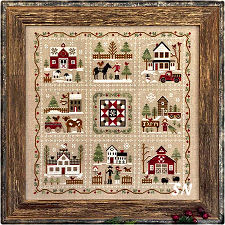 Farmhouse Christmas complete from Little House Needleworks -- click to see more