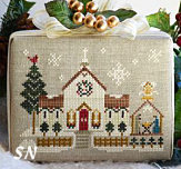 Hometown Holiday #6 Town Church from Little House Needleworks - click to see more
