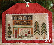 Hometown Holiday #8 Florist from Little House Needleworks - click to see more