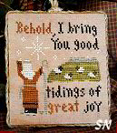 2011 Ornament #12 Good Tidings from Little House Needleworks - click to see more