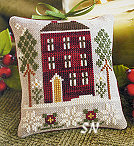2010 Ornament #6 Red House in Winter from Little House Needleworks - click for more