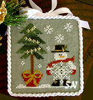 #3 Hes a Flake Ornament of the Month from Little House Needleworks - click for more