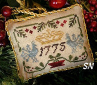 Three Crowns, #3 of 2015 The Sampler Tree Ornament Series from Little House Needleworks -- click to see more