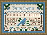 Spring Sampler by Little House Needleworks and Crescent Colours -- click to see more
