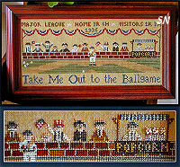 Take Me Out To The Ballgame from Little House Needleworks - click to see more