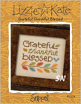 S124 Grateful Thankful Blessed Snippet from Lizzie*Kate