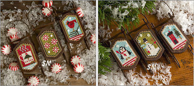 Peppermint and Snowy Sleds from Lizzie Kate