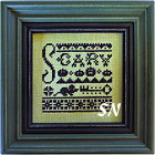 Secret Mystery Sampler Club part 3 bonus design from Lizzie*Kate - click for more