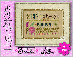 Lizzie Kate's 3 Little Words F148 Be Kind Always Card