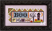 Flora McSample's Boo Sampler from Lizzie*Kate - click for more