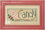 F78 Candy Stocking Double Flip from Lizzie Kate - click for more
