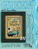 F97 Save Water Green Flip from Lizzie*Kate - click for more
