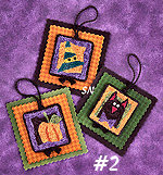 PN006 Halloween Hang-Ups No 2 in Punch Needle from Lizzie Kate -- click to see more!