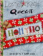 Q-010 HO HO HO In a Row Quick-it from Lizzie*Kate - click for more