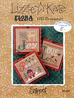 Flora McSample 2011 Ornaments S101 from Lizzie*Kate - click for more