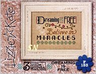Lizzie Kate's F153 3 Little Words Dreaming is Free Flip-it