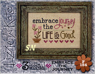 Lizzie Kate's F154 3 Little Words Embrace the Journey Flip-it