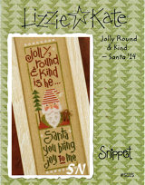 Lizzie Kate's S115 Jolly Round & Kind Santa Snippet - click for more