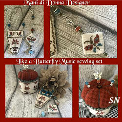 Like a Butterfly Music Sewing Set from Mani di Donna - click for more