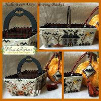 Mani Di Donna Halloween Days Sewing Basket - click to see more