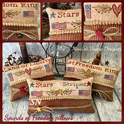 Sounds of Freedom�Pin Cushion Pillows from Mani di Donna - click for more
