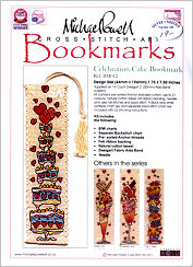 Celebration Cake Bookmark Kit from Michael Powell - click for more