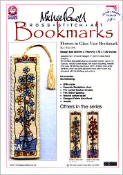 FLOWERS in a Glass Vase Bookmark Kit from Michael Powell - click for more
