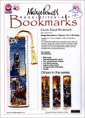 Greek Islands Bookmark Kit from Michael Powell - click for more