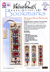 Harlequin Hearts Bookmark Kit from Michael Powell - click for more