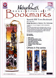 Spanish Hill Town Bookmark Kit from Michael Powell - click for more