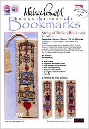 String of DAISIES Bookmark Kit from Michael Powell - click for more