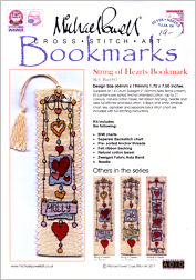 String of HEARTS Bookmark Kit from Michael Powell - click for more