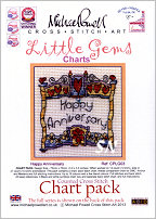Little Gem Happy Anniversary Chart from Michael Powell - click for more