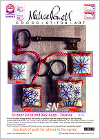 Scissor and Key Keep Kit X101 DAISIES from Michael Powell - click for more