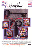 Scissor and Key Keep Kit X105 FLOWERS from Michael Powell - click for more