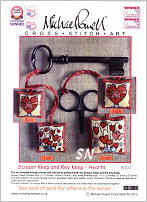 Scissor and Key Keep Kit X102 HEARTS from Michael Powell - click for more