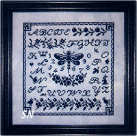 Dragonfly Sampler from Midnight Stitching - click to see more