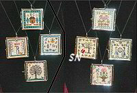 Sampler Pendants from Milady's Needle - click for more
