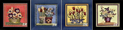 Blooms and Blossoms by Debbie Mumm for Mill Hill! - click for more